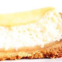 a very zesty cheesecake slice