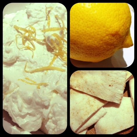 lemon and feta dip