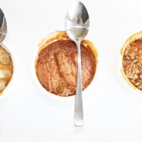 caramel self-saucing pudding three ways
